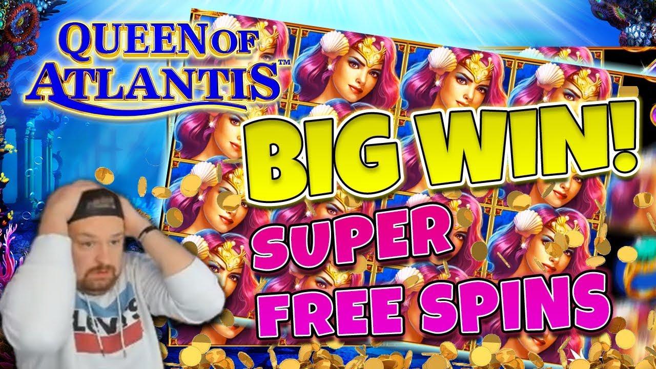 Queen of Atlantis BIG WIN - Huge win on Casino Games - free spins (Online Casino)
