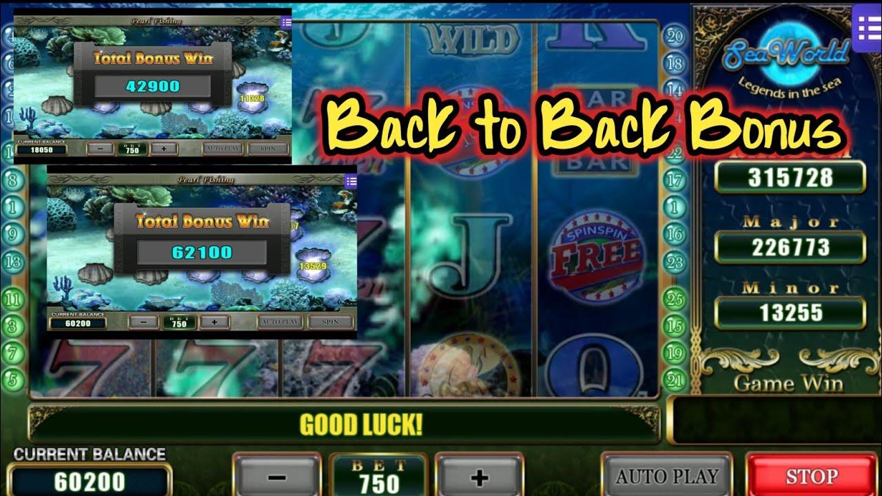 Back To Back bonus SeaWorld Mega888